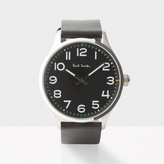 Paul Smith Men's Black With Silver Case 'Tempo' Watch