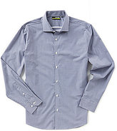 Murano Performance Slim-Fit Spread Collar Gingham Long-Sleeve Sportshirt