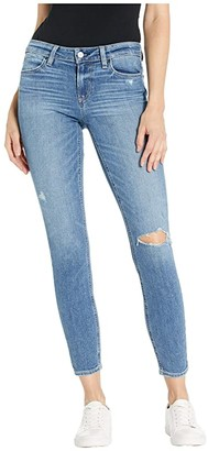 Paige Verdugo Ankle w/ Linear Coin Pocket in Westbound Destructed (Westbound Destructed) Women's Jeans