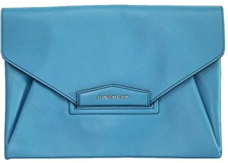 Givenchy Blue Leather Envelop Clutch