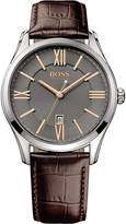HUGO BOSS 1513041 ambassador watch with leather strap