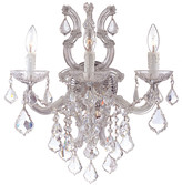 Crystorama Maria Theresa 3-Light Spectra Crystal Sconce Iii W/ Swarovski Crystals