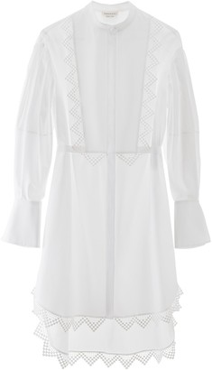Alexander McQueen Lace Trim Shirt Dress