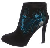 Rene Caovilla Sequined Platform Ankle Boots