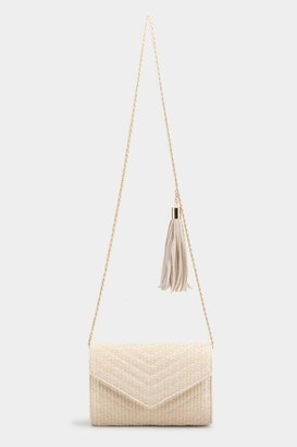 francesca's Ivy Straw Envelope Clutch - Ivory