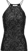 Bailey 44 Naomi Coated Lace And Stretch-Jersey Top