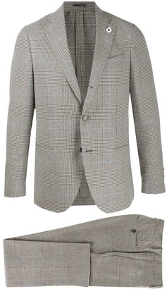 Lardini Check Print Suit Jacket