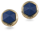 Lauren Ralph Lauren Match Point Reconstituted Lapis 12K Gold-Plated Round Stud Pierced Earrings