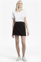 French Connection Sundae Suiting Scallop Edge Skirt