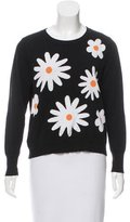 Mother of Pearl Intarsia Daisy Crew Neck Sweater
