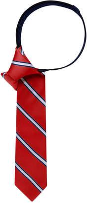 Tommy Hilfiger Repp Stripe Zipper Tie, Big Boys