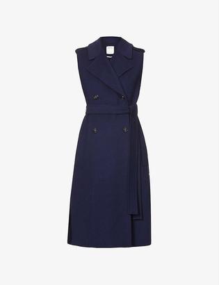 Sportmax Zoe double-breasted sleeveless wool coat