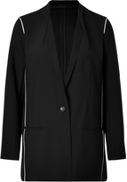 Helmut Lang Wool-Cotton Blazer with Contrast Piping