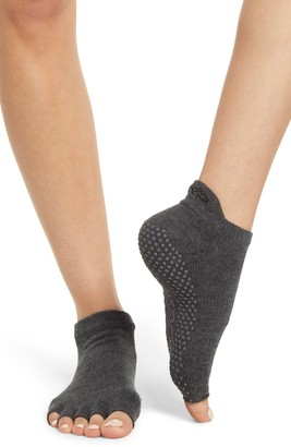 Toesox Low Rise Half-Toe Gripper Socks