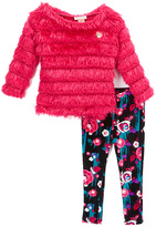 Juicy Couture Pink Ruffle Tunic & Floral Leggings - Infant Toddler & Girls