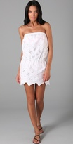 Strapless Eyelet Cover Up