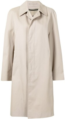 Burberry Pre-Owned Concealed Fastening Knee-Length Coat