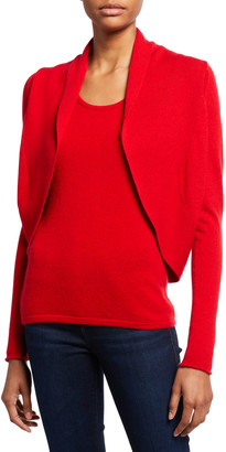 Neiman Marcus Long-Sleeve Cashmere Open-Front Shrug