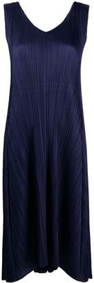 Issey Miyake Pleated Mid-Length Dress