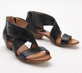 Miz Mooz Leather Studded Cross-Strap Sandals - Candance