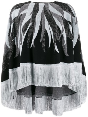 Just Cavalli Fringed Hem Knitted Cape