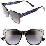 Christian Dior Women's Ribbon 55Mm Sunglasses - Black/ Blue