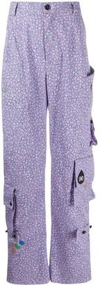 DUOltd Floral-Print Cargo Trousers