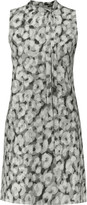 Theory Nurita printed silk-crepe mini dress