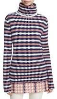 Moncler Maglione Diamond-Stitch Turtleneck Sweater