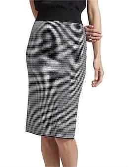 SABA Mara Milano Check Skirt