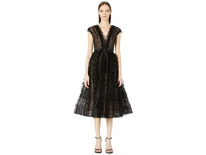 f56d8e88550 Marchesa Black V Neck Dresses - ShopStyle