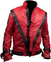 Feather Skin Michael Jackson Thriller Faux Leather Jacket in Colour-L