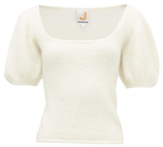 JoosTricot Crystal-sleeve Mohair-blend Sweater - White
