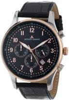 Jacques Lemans Men's 1-1735C London Sport Analog Black Leather Strap Watch