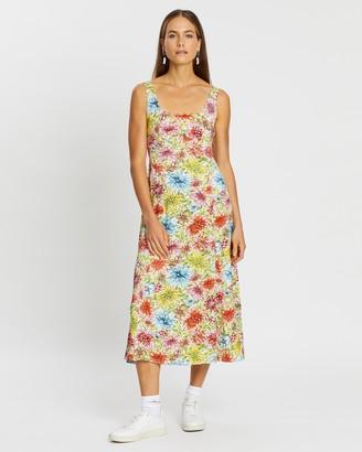 ALEXACHUNG Floral Slip Dress