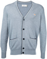 MAISON KITSUNÉ fox patch cardigan - men - Wool - XS