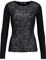 Bailey 44 Embroidered Crepe Top