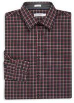 Calvin Klein Big & Tall Long Sleeve Checkered Sportshirt