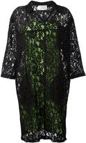 Maison Margiela floral lace shift dress - women - Cotton/Polyamide/Rayon/Viscose - 40
