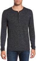 Billy Reid Men's Speckled Henley Sweater