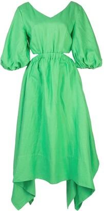 Nicholas Asymmetric Hem Cut-Out Detail Dress
