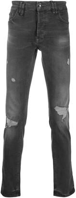 Philipp Plein Slim Distressed Jeans