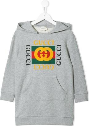 Gucci Kids Logo Print Sweatshirt Dress