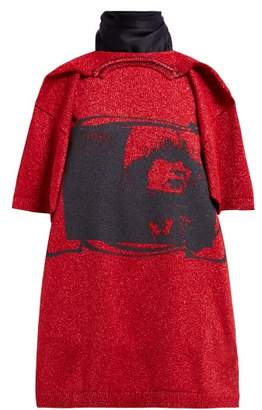 Raf Simons Toyah-print T-shirt-style Scarf - Womens - Red