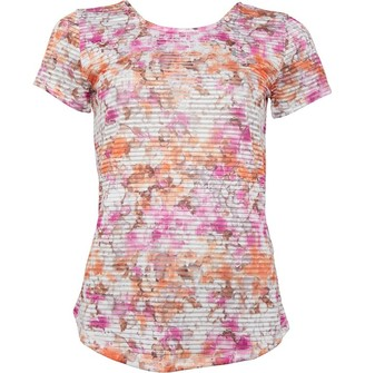 Under Armour Womens Armour Sport Printed Top White/Pink