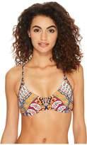 Nanette Lepore Super Fly Paisley Enchantres Bikini Top Women's Swimwear