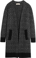 MICHAEL Michael Kors Leopard Jacquard-knit Cardigan - Gray