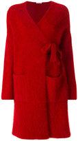 P.A.R.O.S.H. wrap cardi-coat - women - Polyamide/Angora/Wool - XS