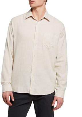 Rails Men's Wyatt Solid Woven Sport Shirt