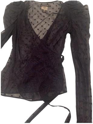 Antik Batik Navy Silk Top for Women